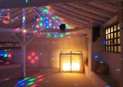 zona de baile en boda al aire libre