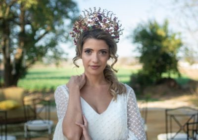 Novia en finca para bodas hacienda campo y olivo