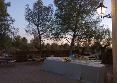Barra libre en finca para bodas campo y olivo