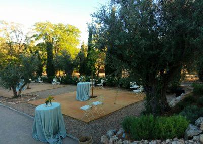 zona aperitivo en finca de bodas